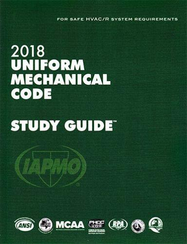 2018 Uniform Mechanical Code Study Guide