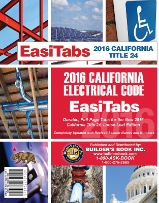 2016 California Electrical Code Title 24 Part 3 Tabs