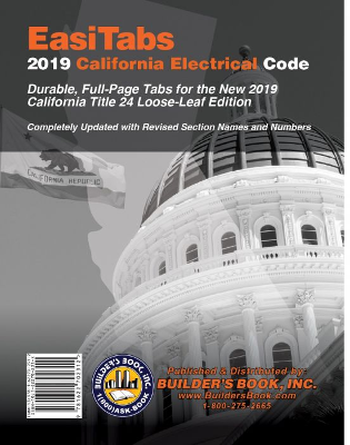 2019 California Electrical Code Title 24, Part 3 Tabs