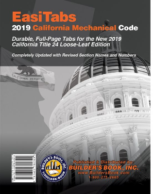 2019 California Mechanical Code Title 24, Part 4 Tabs