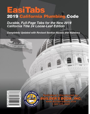 2019 California Plumbing Code Title 24, Part 5 Tabs
