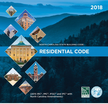 North Carolina State Building Code: Residential Code 2018