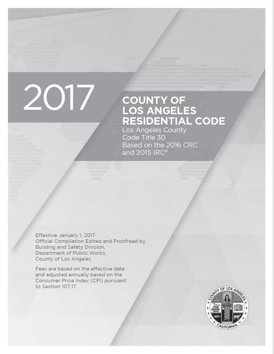 2017 County of LA Residential Code Amendment Only