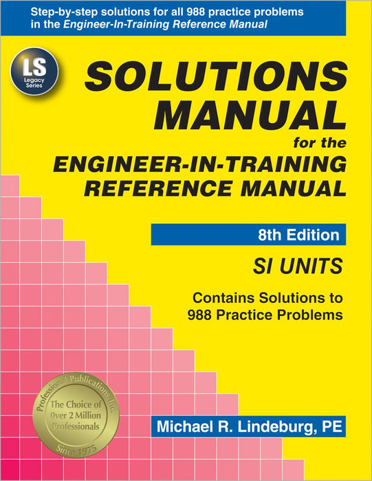 Solutions Manual for the Engineer-In-Training 8th