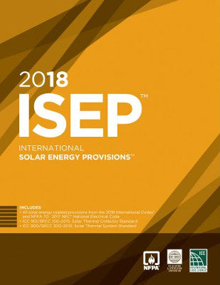 2018 ICC International Solar Energy Provisions ISEP SC