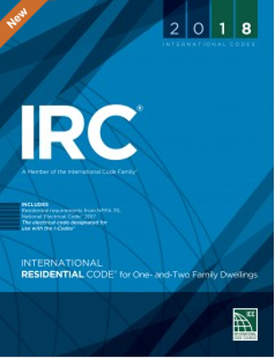2018 ICC International Residential Code, Soft Cover