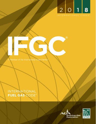 2018 ICC International Fuel Gas Code IFGC SC