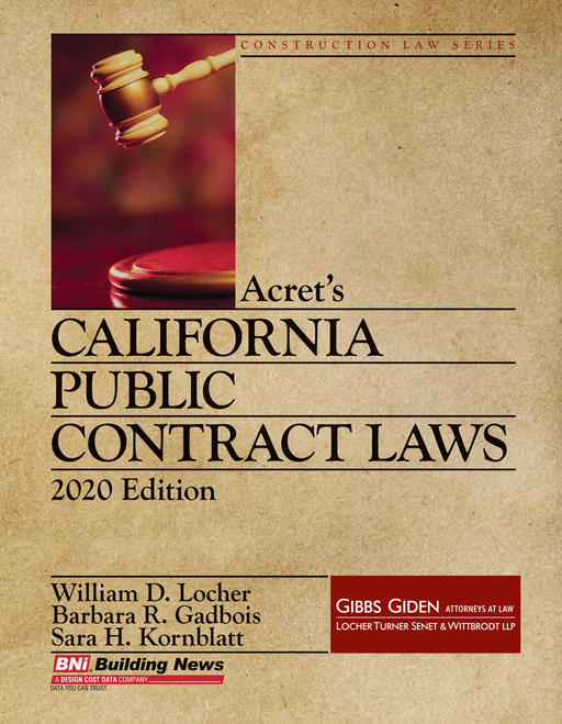 California Public Contract Laws