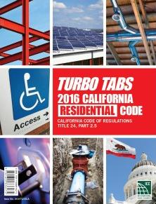 Title 24 Part 2.5 2016 California Residential Code Loose Leaf Tabs