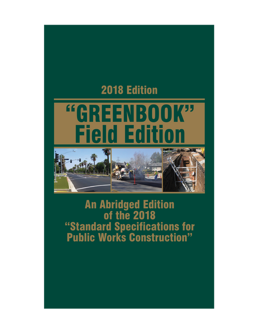 Field Edition, Standard Specifications for Public Works Construction