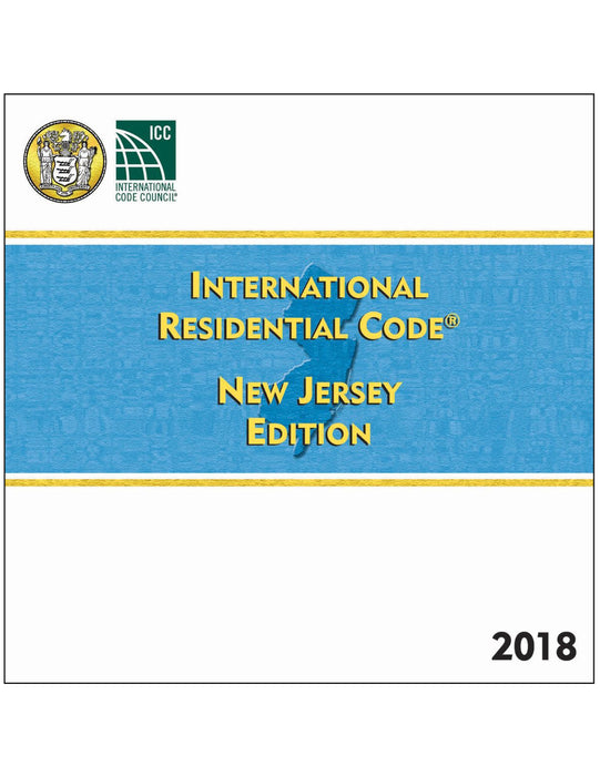 2018 New Jersey Residential Code, Loose Leaf