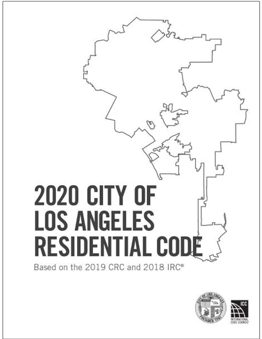 2020 City of Los Angeles Residential Code, Amendments only