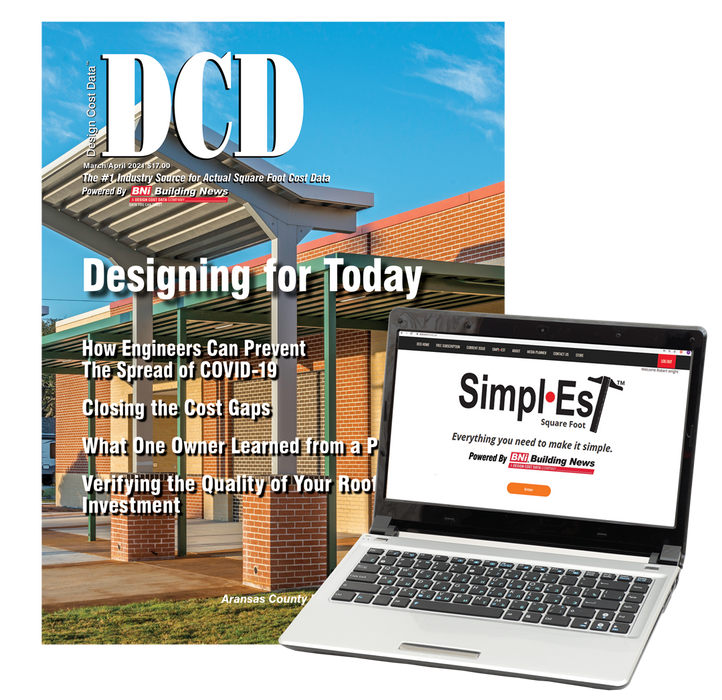 DCD Magazine 1-Year Subscription with Simpl•Est Square Foot + BNi General Construction Costbook