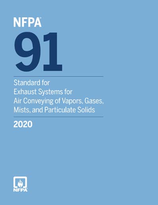 NFPA 91 Standard for the Exhaust Systems Air Conveying of Vapors 2020