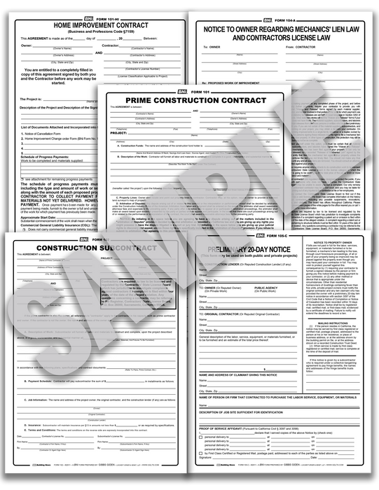 BNi Complete Forms and Contracts (Reusable PDF Format)
