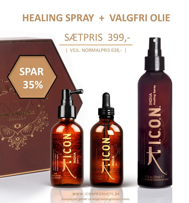 KAMPAGNE | INDIA HEALING SPRAY + VALGFRI INDIA OLIE | SPAR 239,-