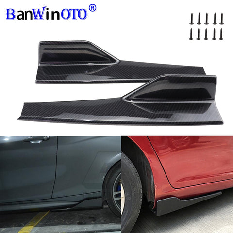 2Pcs/Set Car Wide Body Side Skirts Splitters Kit Modified Sideskirts Rocker Anti-Scratch Winglet Wings Bumper 45cm Universal
