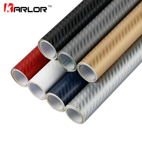 30x127cm 3D Carbon Fiber Vinyl Film Car Stickers Waterproof Car Styling Wrap Auto Vehicle Detailing Car accessories Motorcycle