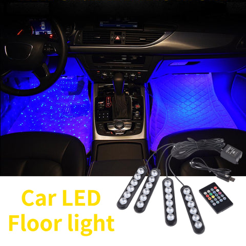 Car LED Floor Foot Strip Light Cigarette Lighter Adapter Interior Decorative Lamp Atmosphere For Mazda Logo Atenza Axela CX4 CX5
