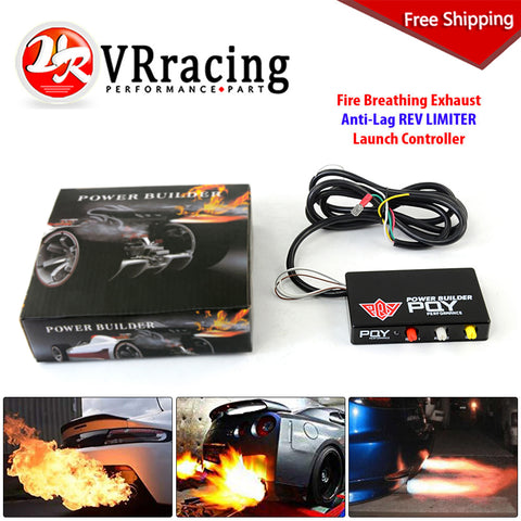 FREE SHIPPING - Performance Fire Breathing Exhaust Anti-Lag REV Limiter Launch Control Chip Drift Flame Thrower Controller Kit