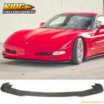 Fit For 97-04 Chevy Corvette C5  IK Style Front Bumper Lip Splitter Unpainted Black Carbon Fiber