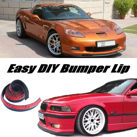 NOVOVISU For Chevrolet Corvette C4 C5 C6 C7 Bumper Lip Lips / Spoiler For Car Tuning / Body Kit + Strip Front Skirt