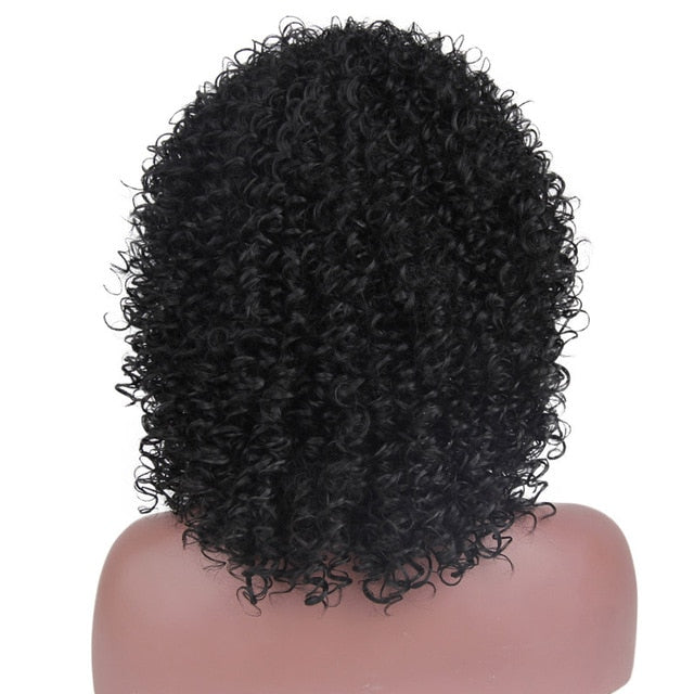 Red Black Afro Kinky Curly Wigs for Women