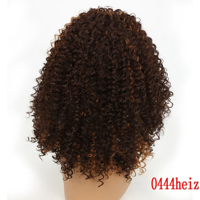 14 Inch Short Afro Kinkly Curly Wigs For Black Women