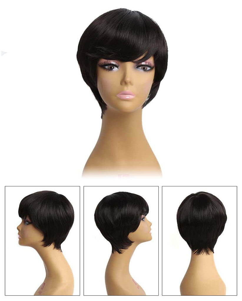 Synthetic short wigs for African women
