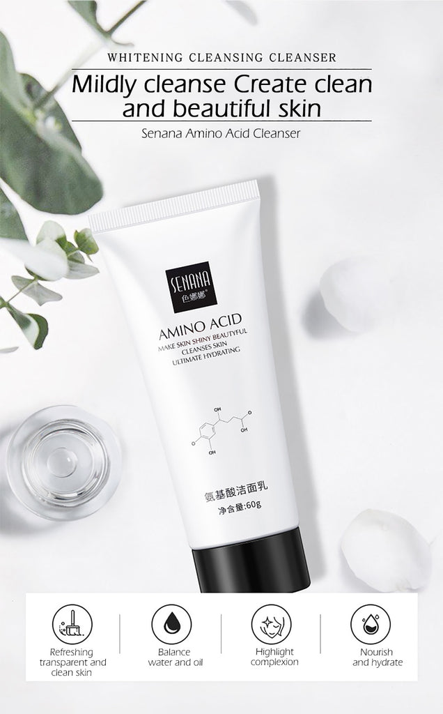 Amino Acid Face Cleanser Facial Scrub Cleansing Acne Oil