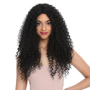 "26""Inch Synthetic Lace Front Black Wig African"