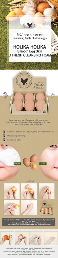 Smooth Egg Skin O Fresh Cleansing Foam