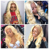 Blonde  Lace Front Human Hair Wigs for black women
