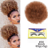 10inch High Puff Afro Curly Wig Ponytail