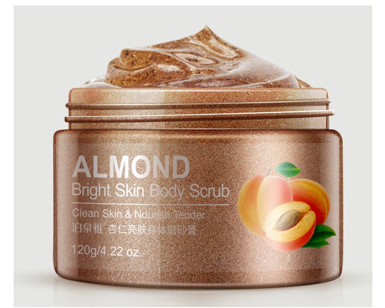 1PCS almond skin facial scrub cleansing