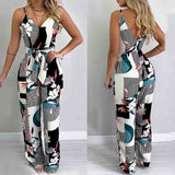 Bohemian Jumpsuits V Neck Sexy Clubwear  Women Boho Strap Playsuit Bodycon Party Trousers Jumpsuit New Backless Rompers