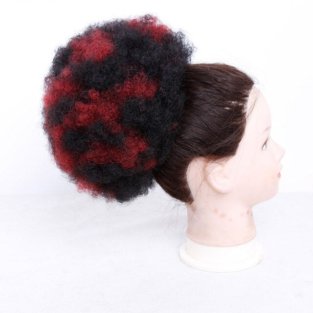 Short Afro Curly Pony Tail Clip in Ponytail Synthetic hair