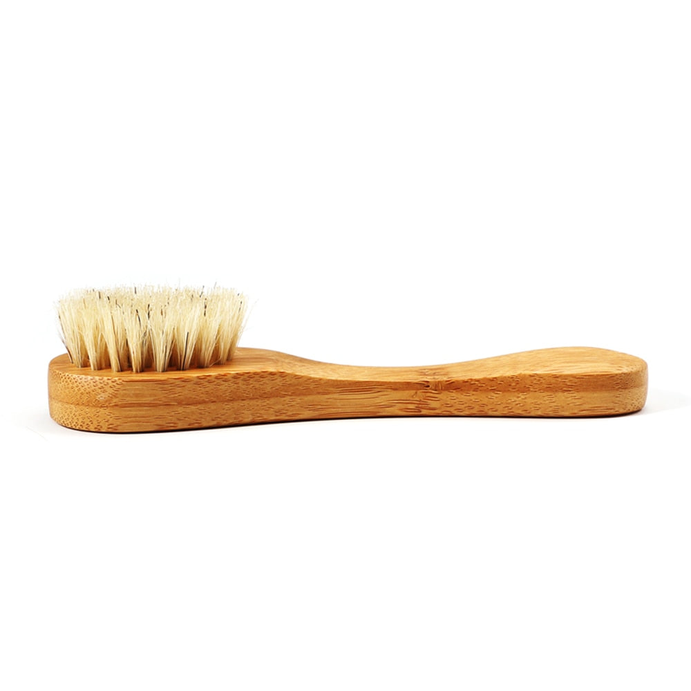 Bamboo Facial Cleansing Massage Care Brush Facial Cleanser