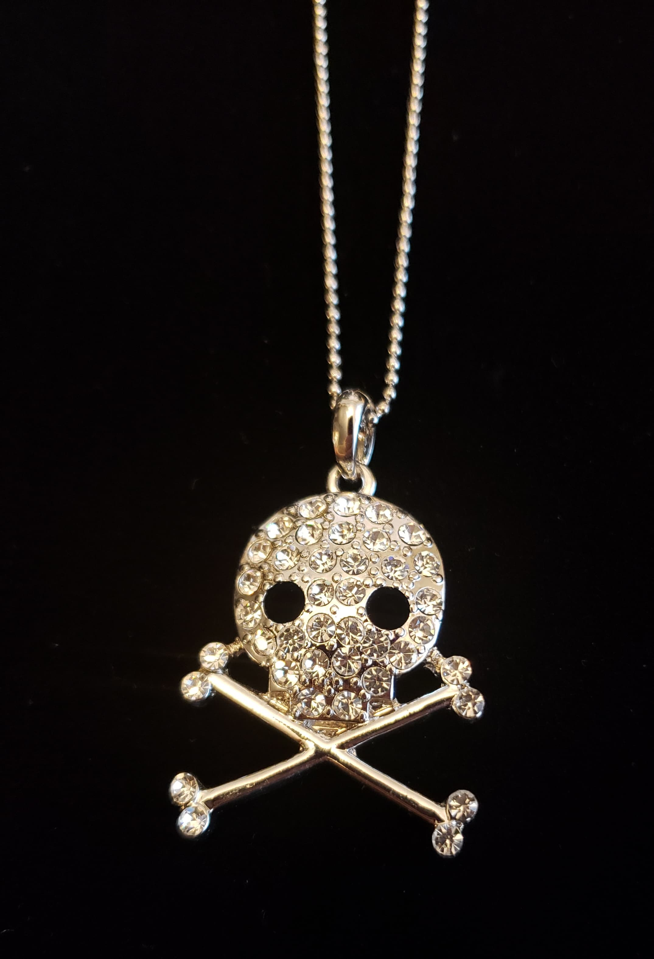 Skull and Crossbones Necklace - Altered Apparel Boutique
