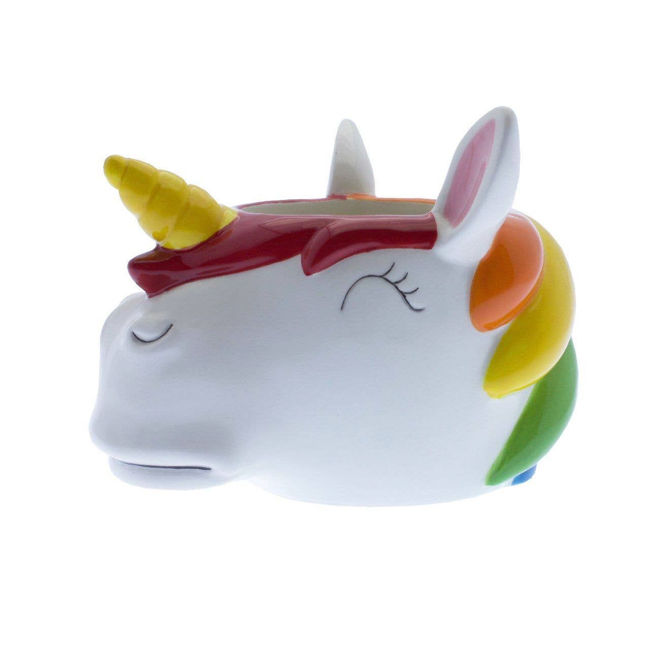 Rainbow Unicorn Planter Pot