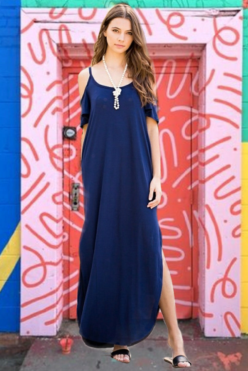 Eve Cobalt Blue Dress - Altered Apparel Boutique