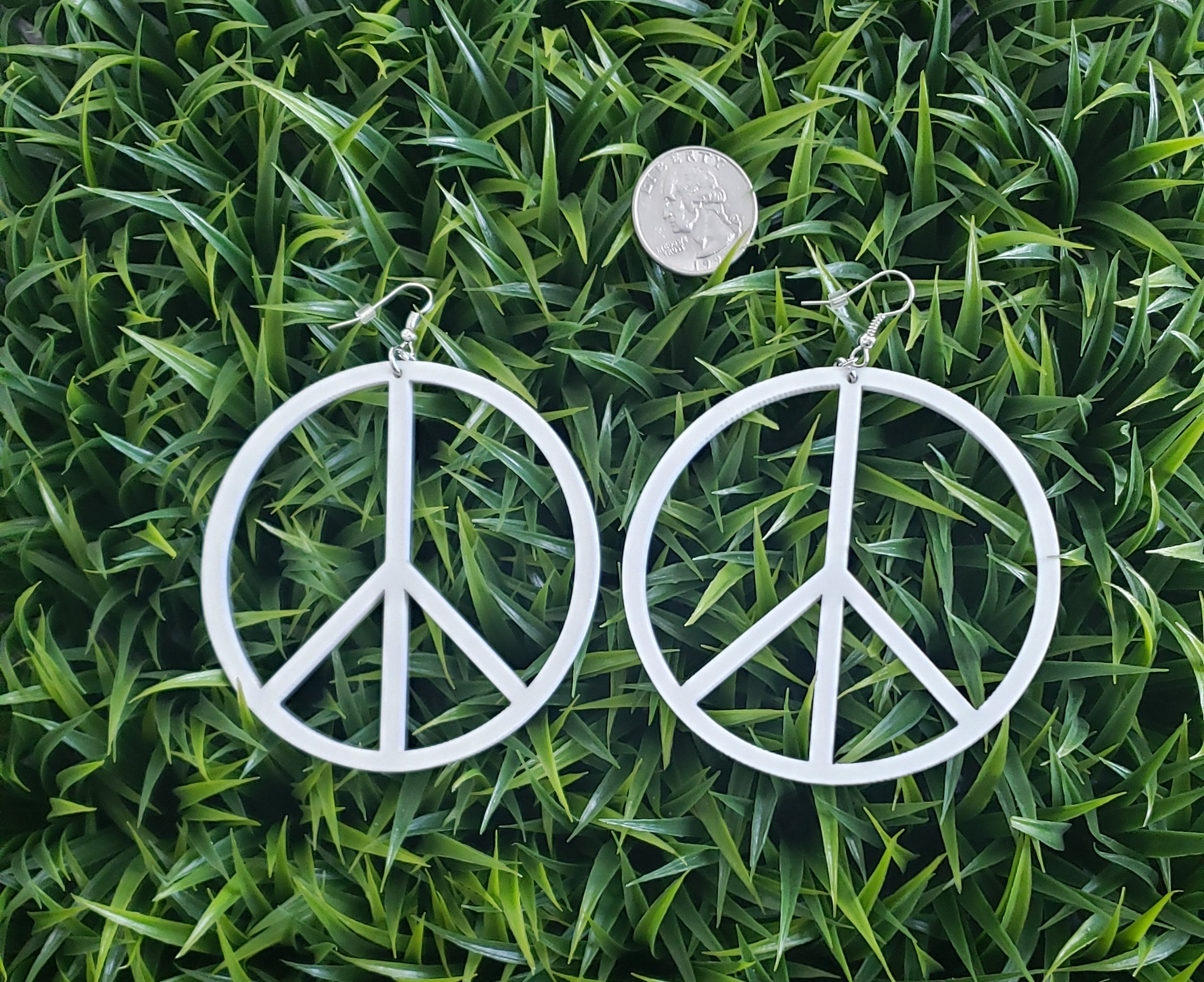 Peace Sign Acrylic Earrings - Altered Apparel Boutique