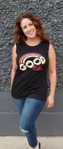 Good Vibes Black Tank Top - Altered Apparel Boutique