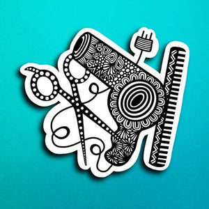 Hair Stylist Sticker