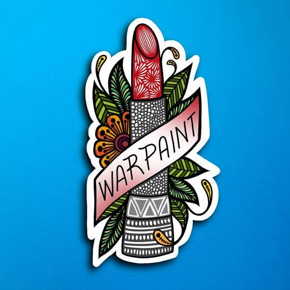 War Paint Sticker