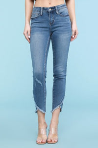 Bethany Tulip Hem Skinny Jean - Altered Apparel Boutique