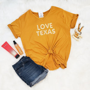 Ali's Love Texas V-Neck T - Altered Apparel Boutique