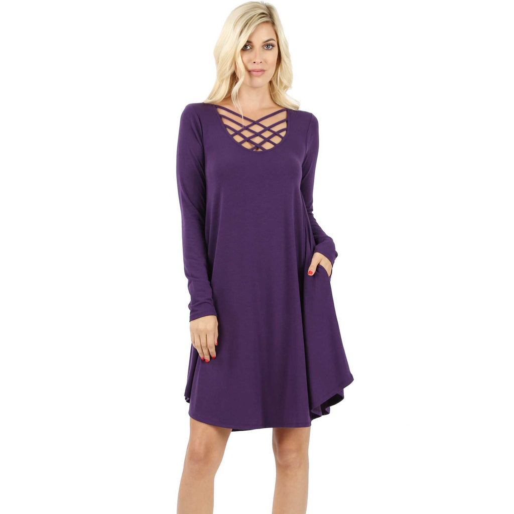Leslie Plum Dress