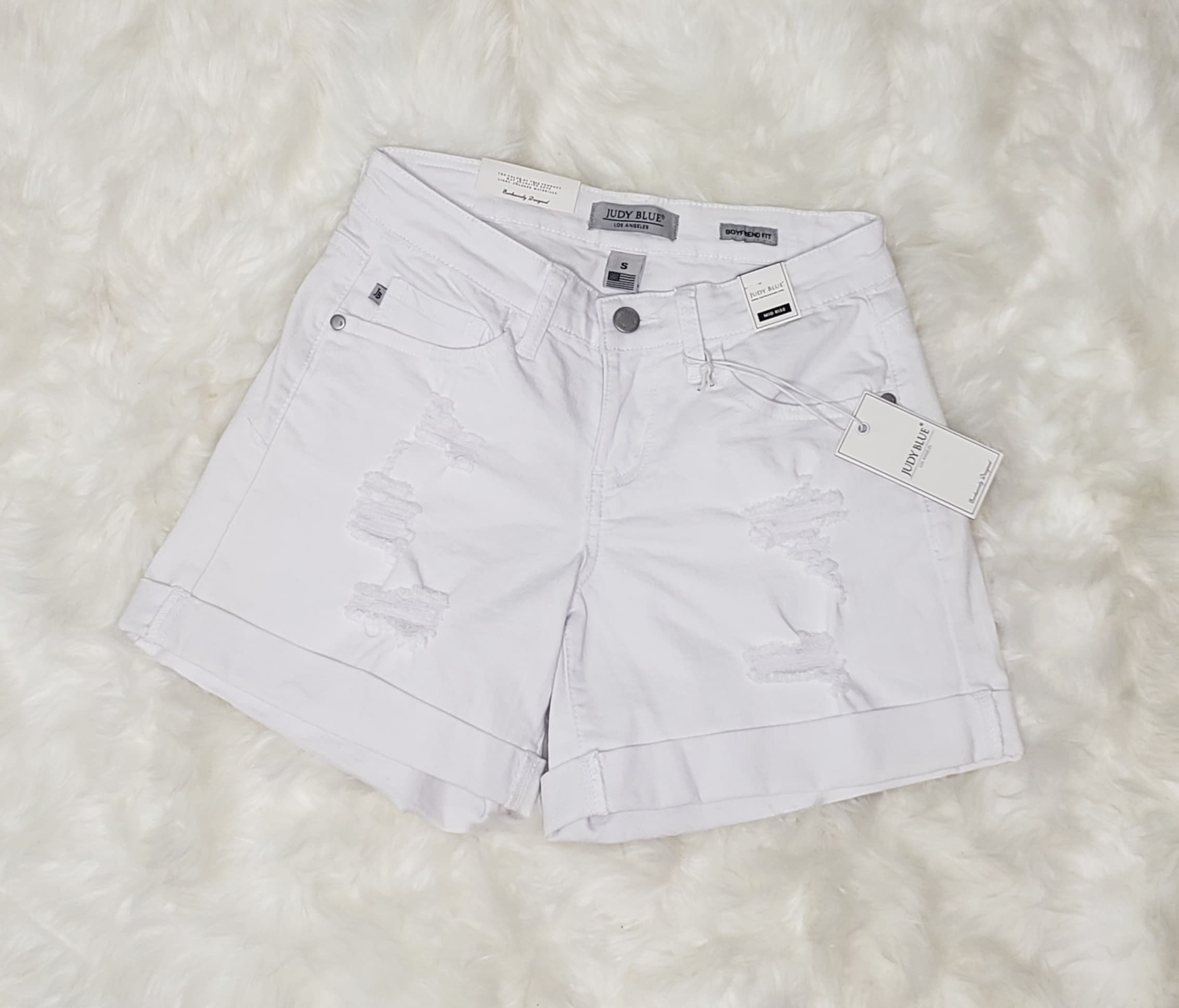 Judy Blue Blanco Shorts - Altered Apparel Boutique