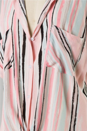 Gloria Striped Button-Up - Altered Apparel Boutique